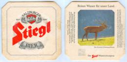 Bierdeckel Österreich Stiegl Bier Salzburg Hohe Tauern Rothirsch Hirsch Beer Mat Stag Hart Cervo Cerf Austria Bierviltje - Sous-bocks