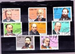 CUBA : Célébrités De La Science : Y&T : O : 3287 à 3294 - Oblitérés
