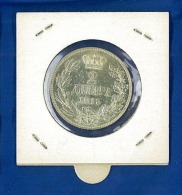 Serbia 2 Dinara 1915 Q/FDC - ARGENTO - OSSIDO NATURALE NON PULITA - Serbia