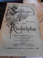 Solfège Composé Par RODOLPHE - Editiion Margueritat - Musique & Instruments