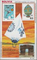 """BOLIVIEN Block 133 """"200 Jahre Luftfahrt"""" MNH / ** / Postfrisch - Bolivien"""