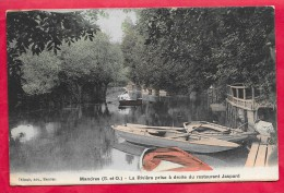 94-Mandres-la Riviere Prise à Droite Du Restaurant Jaspard-cpa  écrite 19?? Colorisé - Mandres Les Roses
