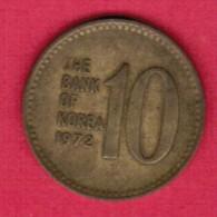 KOREA---South   10 WON 1972 (KM # 6a) - Korea, South