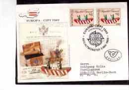 TEM7397   -    ALTMUENSTER  5.5.1989   /     FDC  MICHEL NR. 1956   EUROPA CEPT - FDC