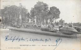 CPA CHARENTE (17) ROCHEFORT  Arsenal - BEAU ¨PLAN D'UN TORPILLEUR   1903  TTBE - Rochefort