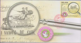 O)  2014 MEXICO, CARRIAGE  1856- HORSES, CULTURAL POSTAL, NATIONAL INCOME POST, FDC XF - Mexico