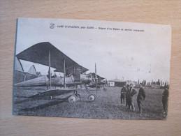 Camp D'Aviation Près Dijon -  Départ D'un Biplan En Service Commandé - Aerodrome