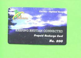 BHUTAN - Remote Frame Phonecard As Scan - Bhutan