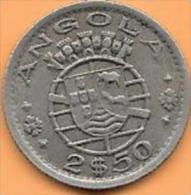 2 1/2 Escudo 1953 ANGOLA République Portugaise  Clas D 181 - Angola
