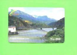 BHUTAN - Remote Frame Phonecard As Scan - Bhoutan