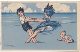 Adolfo BUSI - Couple D'Enfants, Danse - Illustrateur, Italie - Busi, Adolfo