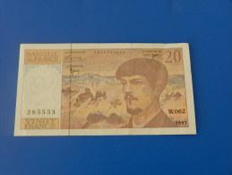FRANCE / 20 FRANCS DEBUSSY / 1997 / 285553 / W.062 - 1962-1997 ''Francs''