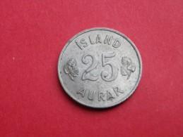 Islande    25 AURAR 1958     KM#.11          CUPRONICKEL    UNC  SUPERBE - Islandia