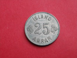 Islande 25 AURAR 1961     KM#.11          CUPRONICKEL    UNC  SUPERBE - Islandia