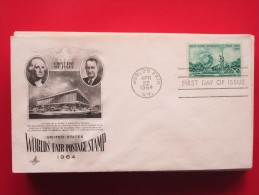 1964 USA - Scott # 1244 - New York World's Fair - FDC - First Day Covers (FDCs)