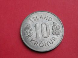 Islande   10 KRONUR   1967     KM.#15      CUPRONICKEL  UNC SUPERBE - Islandia