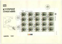 EUROPA CEPT - FDC - CIPRO - ANNO 1981 - BUSTONE  - BF SU BUSTA - 2 BUSTE - REPUBLIC OF CYPRUS - KIBRIS - - Cyprus