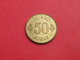 Islande  50 AURAR    1969     KM#.17      NICKEL LAITON   UNC SUPERBE - Islandia