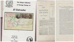 O) 1979 EL SALVADOR, CATALOG THE UNIQUE COLLECTION OF POSTAGE STAMPS OF SALVADOR, JOSEPH HAHN, FLIGHTS XEROX COPIES, XF - 1950-Now