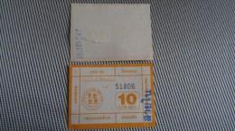 Bus Ticket From Thailand - Fahrkarte - Transportation