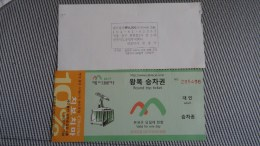 Cable Car Ticket From Taiwan - Fahrkarte - Transportation