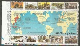 USA. Scott # 2981a-j, MNH S/sheet Of 10. World War II, Hard To Find. 1995 - WW2 (II Guerra Mundial)
