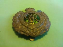 Broche Honi Soit Qui Mal Y Pense Royal Engineers, Koperen Insigne - Royaux/De Noblesse