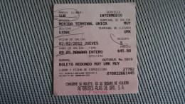 Bus Ticket From Mexico - Fahrkarte - Transportation