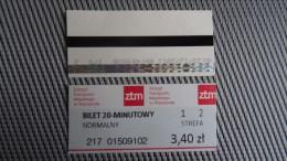 Bus Ticket From Warsaw Poland - Fahrkarte - Transportation
