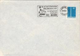 35372- LZ 127 ZEPPELIN MEETING MALYGIN ICEBREAKER IN THE ARCTIC CIRCLE, SPECIAL POSTMARK ON COVER, 1981, ROMANIA - Polar Flights
