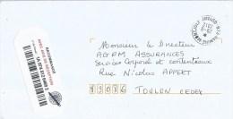 French Guyana Guyane 2012 973 Remire Montjoly Unfranked Barcoded AR Advice Of Receipt Registered Cover - Frans-Guyana (1886-1949)