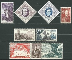 Monaco - 1956 - FIPEX - N° 444 à 452  - Neufs ** - MNH - Unused Stamps
