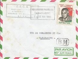 Madagascar 1962 Tananarive BM Boite Mobil Handstamp President 1st Philatelic Exhebition Slogan Cover - Madagaskar (1960-...)