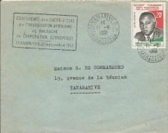 Madagascar 1961 Tananarive African Economic Cooperation Head Of States Conference Handstamp President Cover - Madagaskar (1960-...)