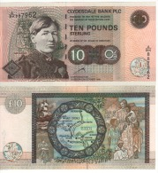 SCOTLAND  £10  Clydesdale Bank   P218d     Dated  20th Oct.  1999    UNC - [ 3] Scotland