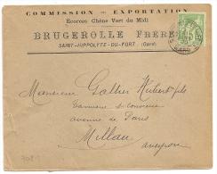 SAINT HIPPOLYTE DU FORT Gard Sur Enveloppe SAGE Au Tarif Papier D'Affaire. - Poststempel (Briefe)