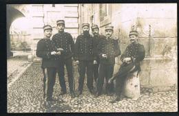 CARTE PHOTO -MILITARIA-Groupe De 6 Militaires - à Identifier-Recto Verso-PAYPAL SANS FRAIS - Photos