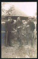 CARTE PHOTO -MILITARIA-Groupe De 3 Militaires - à Identifier-Recto Verso-  PAYPAL SANS FRAIS - Photos
