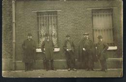 CARTE PHOTO - 5 Personnages  à Identifier-Photographie De Vaugirard -J.MAQUET 125 Rue Cambronne-Recto Verso- - Foto