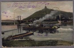 Porta Westfalica LEPORELLO Dampfer Hameln Weserbrücke Und Fähre Mit Dem Wittekindsberg Und Dem Kaiser Denkmal 1906y B443 - Porta Westfalica