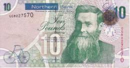 BILLETE DE IRLANDA DE 10 POUNDS DEL AÑO 2008  (BANKNOTE) NORTHERN BANK - Ireland