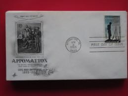 1965 USA - Scott # 1182 - Civil War Centennial / Battle Of Appomattox -  FDC (Militaria) - First Day Covers (FDCs)