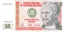 Peru - Pick 131 - 50 Intis 1987 - Unc - Pérou