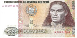 Peru - Pick 134 - 500 Intis 1987 - Unc - Perù