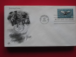 1965 USA - Scott # 1266 - UN International Cooperation Year -  FDC - First Day Covers (FDCs)