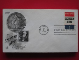 1965 USA - Scott # 1267 - Salvation Army Centenary -  FDC (Religion) - First Day Covers (FDCs)