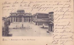 CPA - ROME - Basilique Et Place Saint Pierre - Orte & Plätze