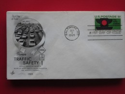 """1965 USA - Scott # 1272 - """"Promoting Traffic Safety"""" -  FDC - First Day Covers (FDCs)"""