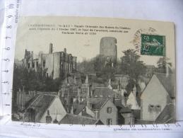 CPA (37) Indre Et Loire - CHATEAURENAULT - Façade Orientale Des Ruines Du Château - France
