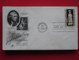 1965 USA - Scott # 1273 - John Singleton Copley (Artist) Death 150th Anniv. -  FDC (Painting)(Costumes) - First Day Covers (FDCs)